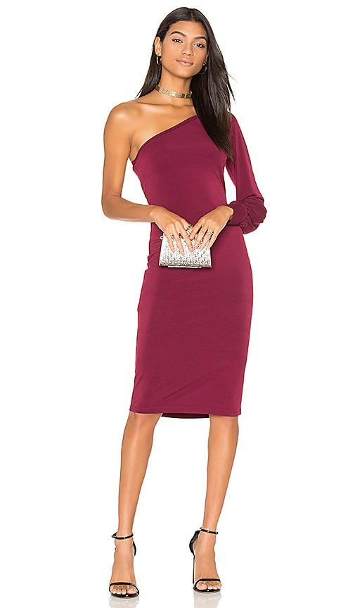 YFB CLOTHING Vesper Dress in Burgundy