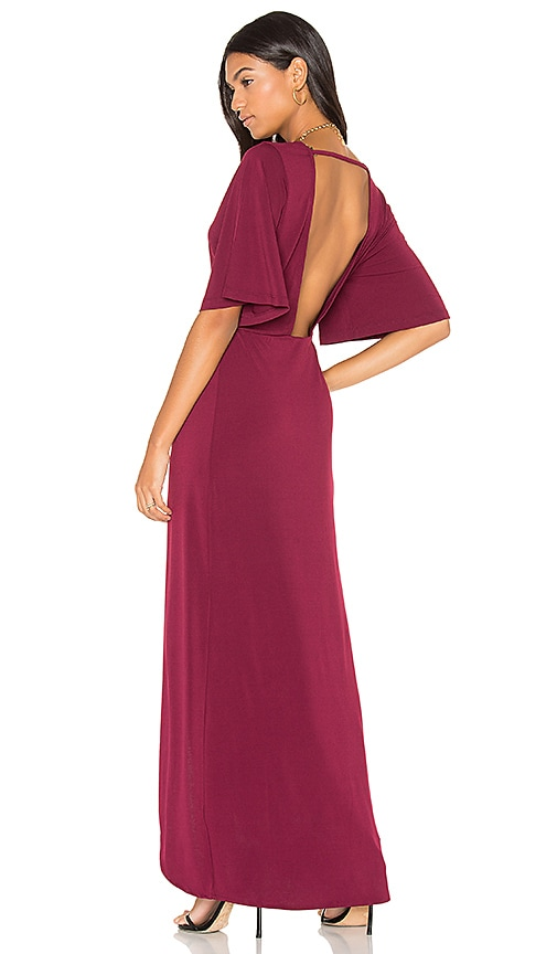 YFB CLOTHING Deco Dress in Burgundy