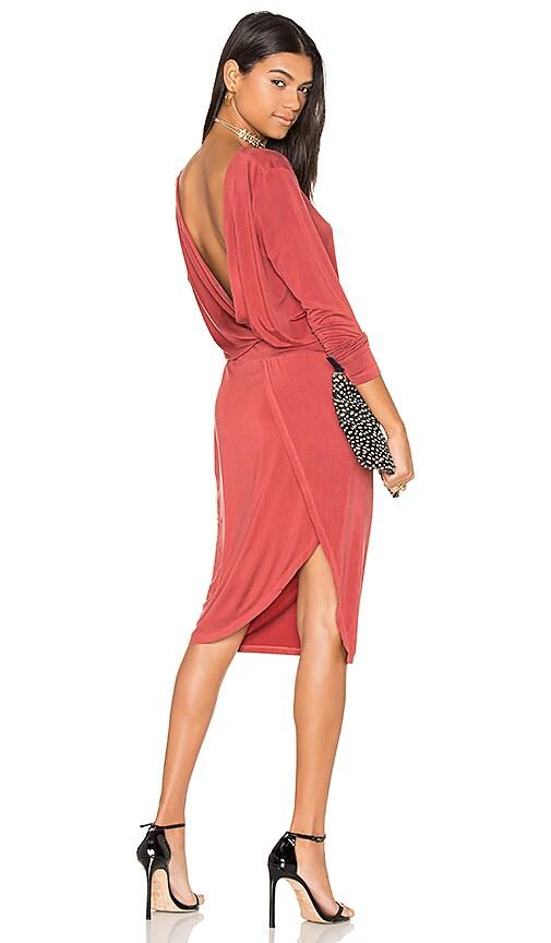 YFB CLOTHING Vamp Dress in Rust