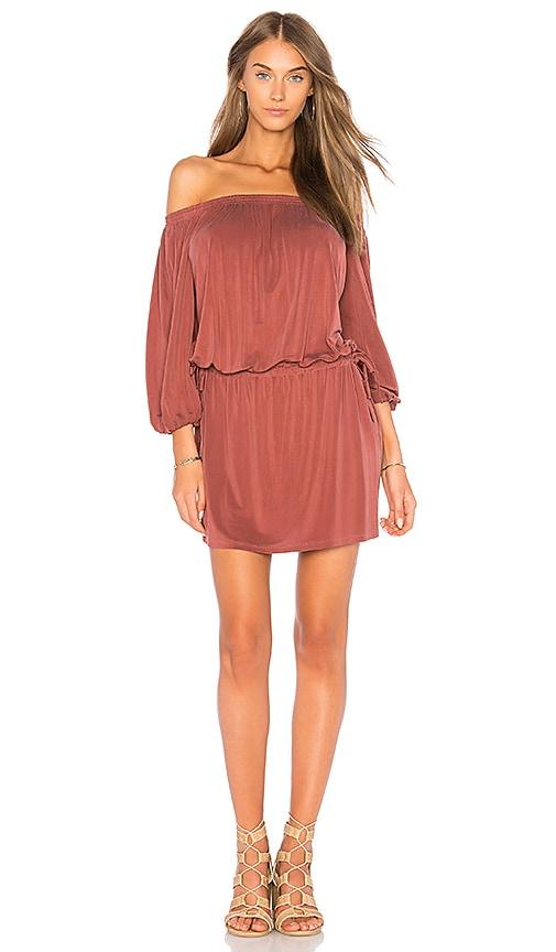 YFB CLOTHING Aletta Dress in Rust