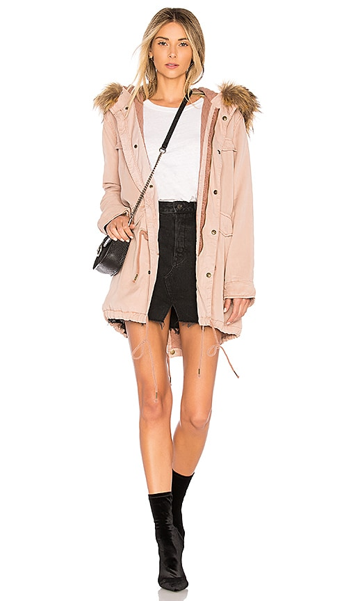 YFB CLOTHING Wells Parka Jacket in Pink