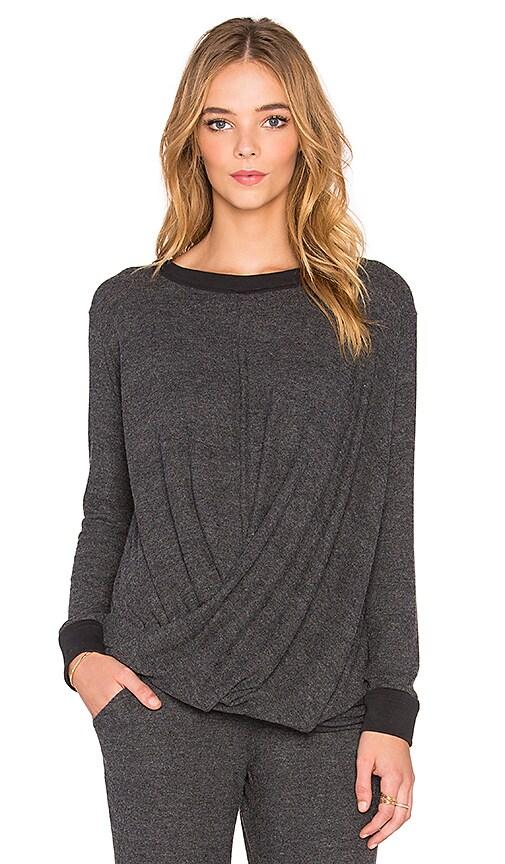 YFB CLOTHING Kaia Sweatshirt in Charcoal