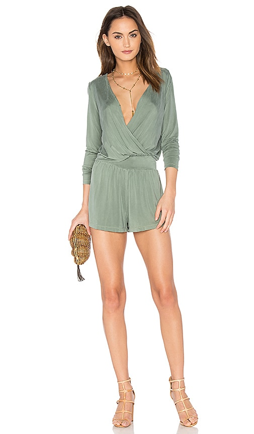 YFB CLOTHING Blair Romper in Green