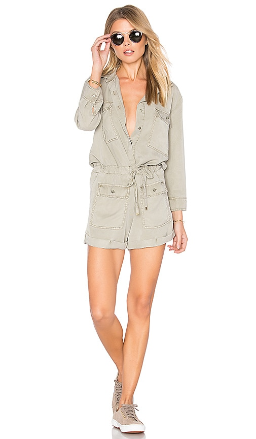 YFB CLOTHING Leone Romper in Gray