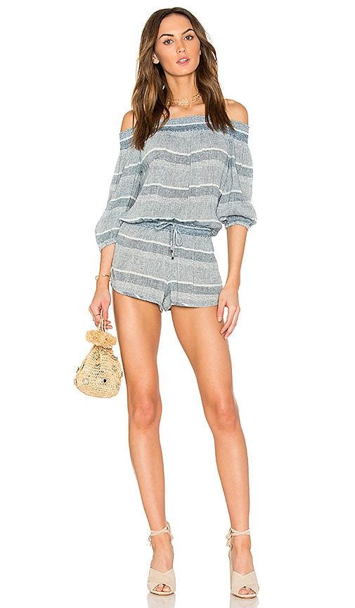 YFB CLOTHING Palmas Romper in Blue