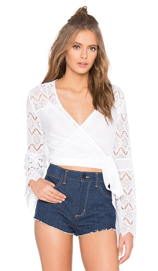 YFB CLOTHING Vienne Top in White