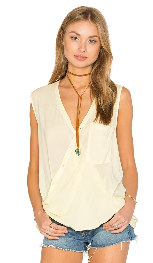 YFB CLOTHING Ringo Top in Yellow