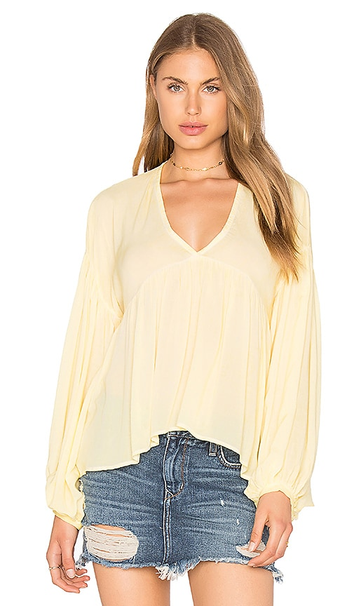 YFB CLOTHING Veruca Top in Yellow