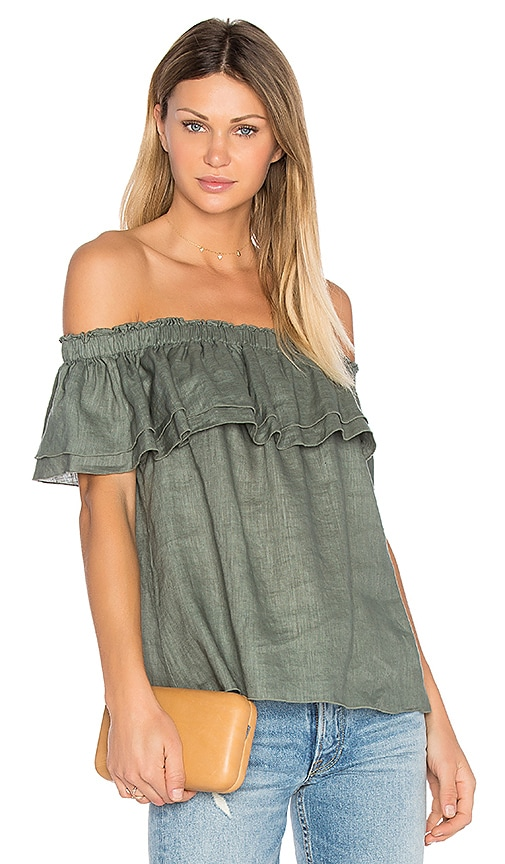 YFB CLOTHING Birdy Top in Olive
