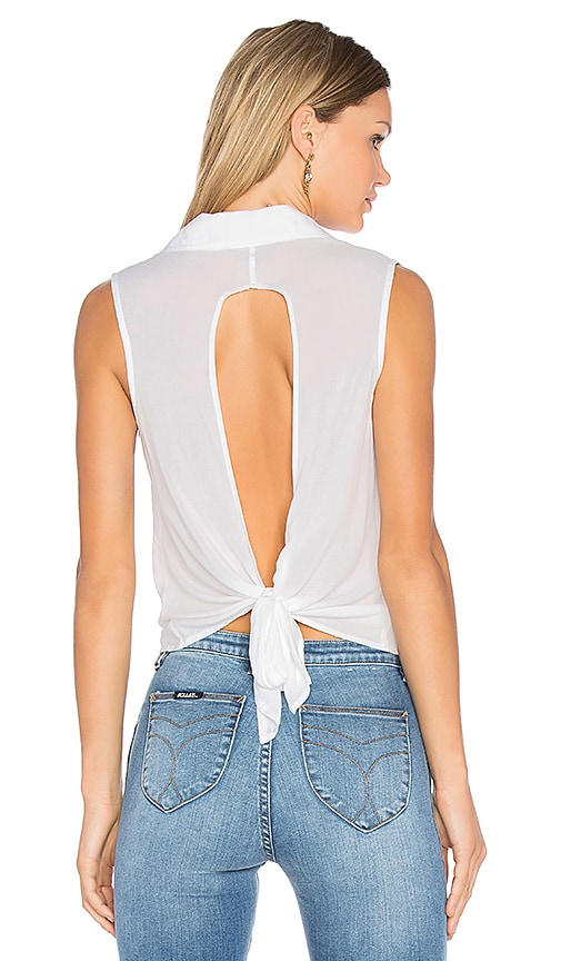 YFB CLOTHING Painter Top in White