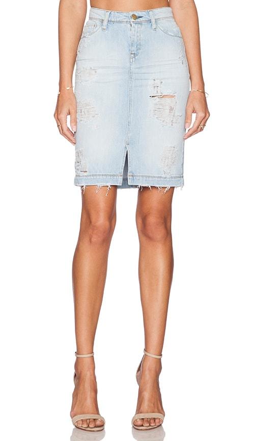 Acquaverde Naomie Pencil Skirt in Light Used Destroy