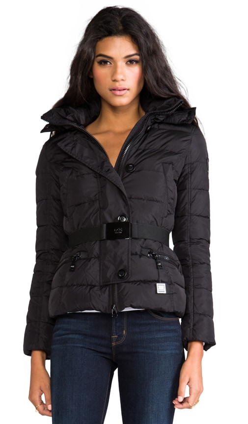Down Jacket With Fur Boarder