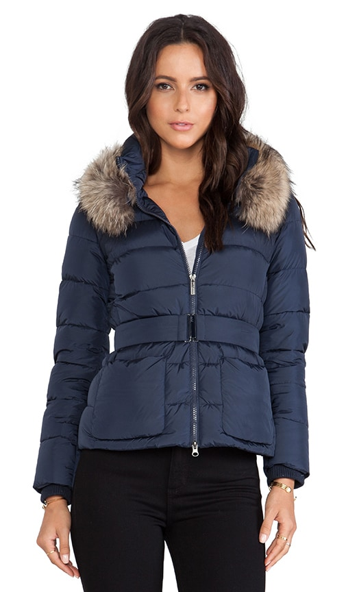 ADD Down Jacket with Fur Collar in Eclipse | REVOLVE
