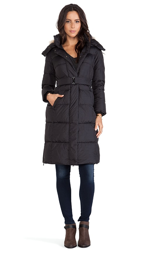 a533b29993a ADD Down Long Coat with Fur Border in Black | REVOLVE
