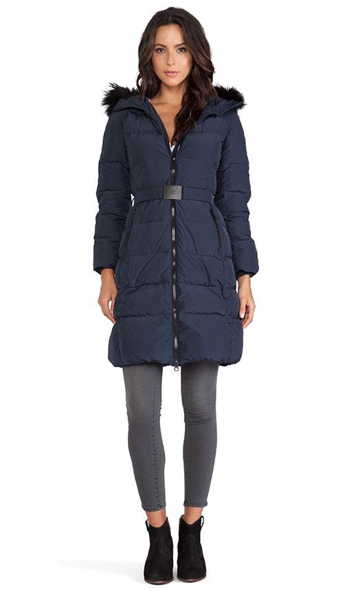 5b076783193ed ADD Down Coat with Fur Hood in Patriot Blue | REVOLVE
