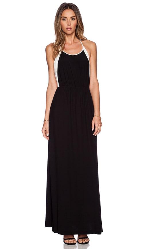 ADDISON Llyod Halter Maxi Dress in Black