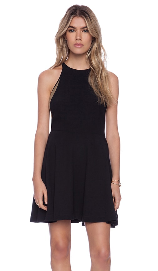 Addison Burton Halter Fit Flare Dress In Black Revolve