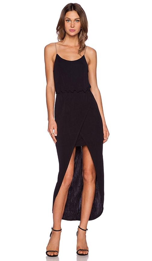 ADDISON Fendela Maxi Dress in Black