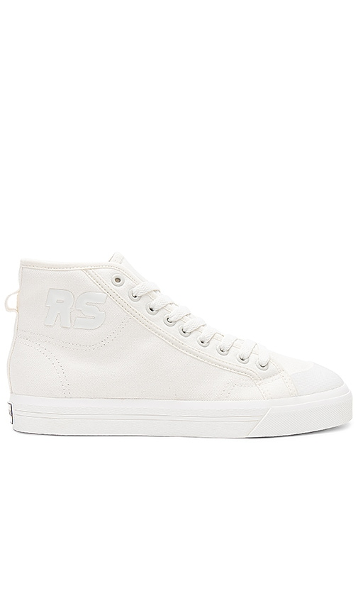 adidas by Raf Simons Spirit High Top Sneaker in Cream