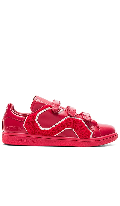 adidas by Raf Simons Stan Smith Comfort Badge Sneaker in Red