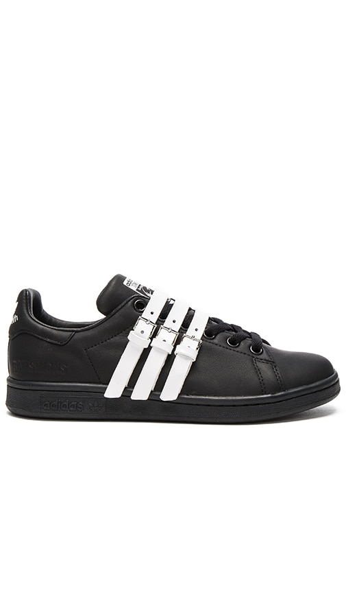 adidas by Raf Simons Stan Smith Strap Sneaker in Core Black & Vintage White