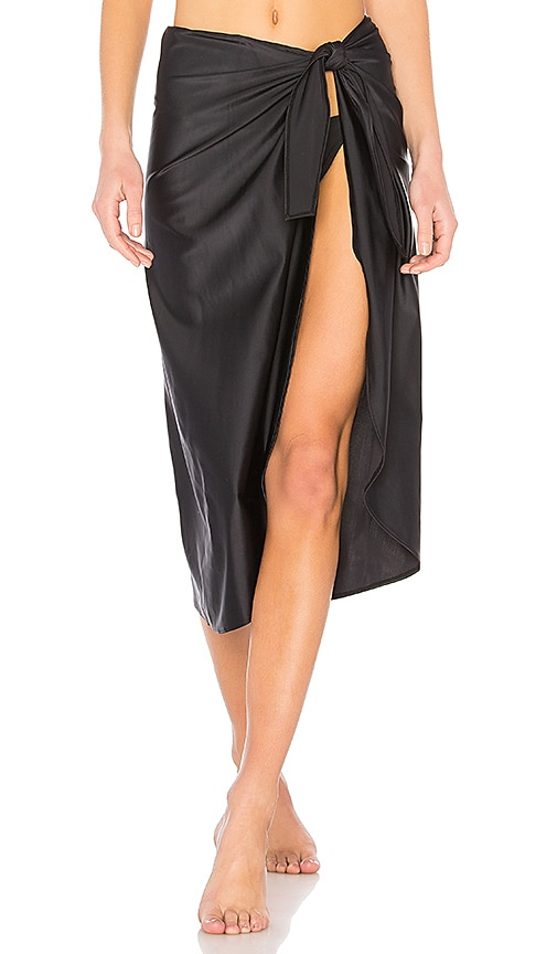 ADRIANA DEGREAS Pareo Skirt in Black