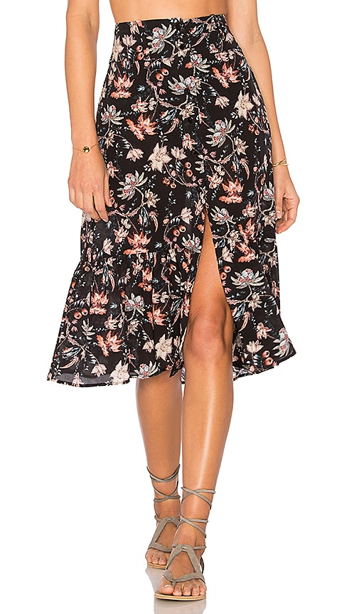 Chinoiserie Midi Skirt