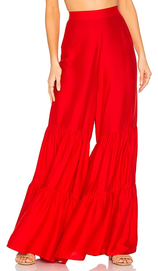 ADRIANA DEGREAS Wide Leg Pants in Red