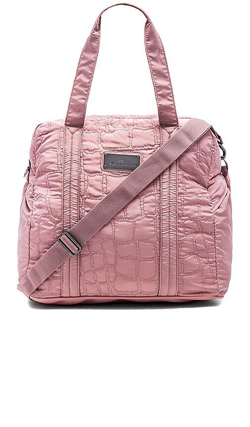 adidas by Stella McCartney Essentials Travel Bag in Pale Salmon & Gunmetal