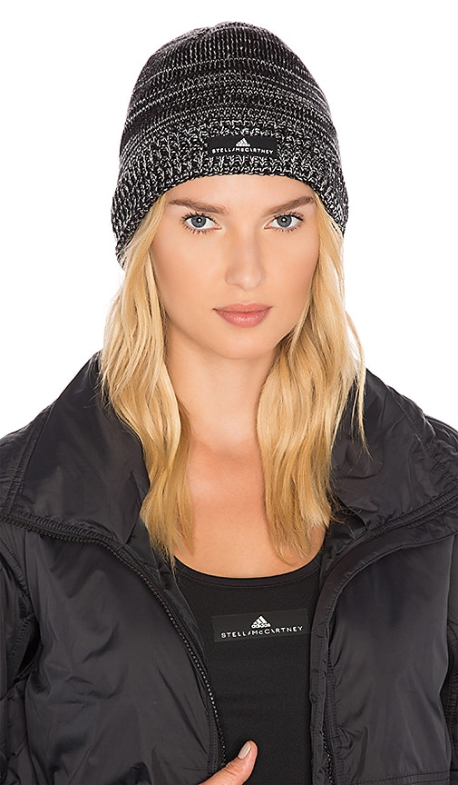 3615da173d3 adidas by Stella McCartney Essentials Beanie in Black & Chalk White ...