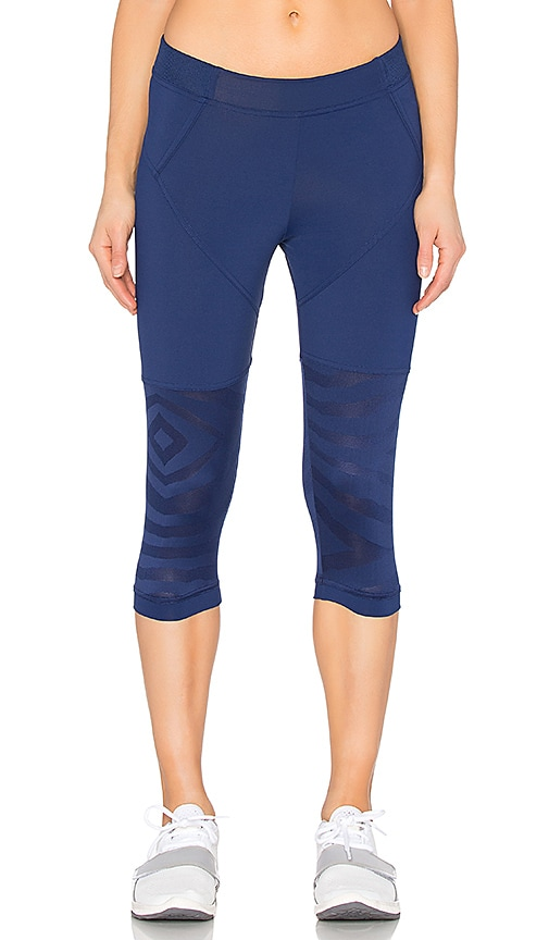 adidas by Stella McCartney Studio Zebra 3/4 Legging in Navy