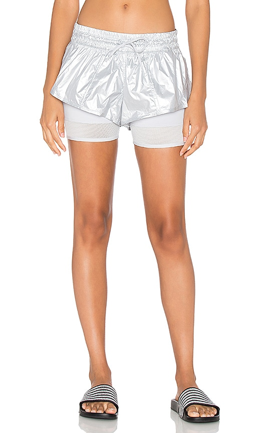 adidas by Stella McCartney Run Medals 2 In 1 Short in Gray