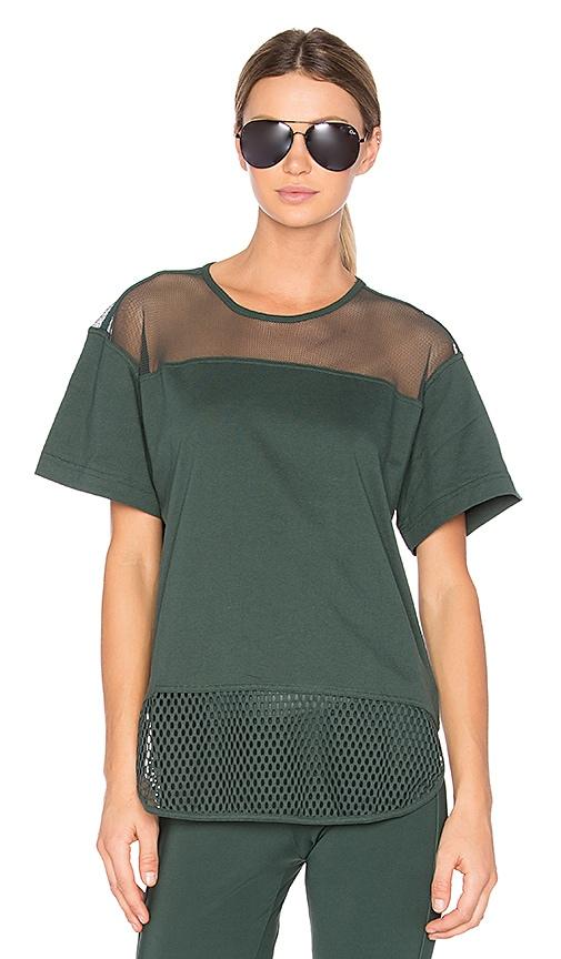 adidas by Stella McCartney Essentials Mesh Tee in Dark Green