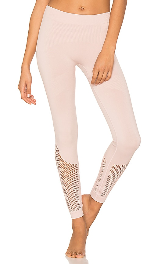 adidas by Stella McCartney The Seamless Mesh Tight in Blush