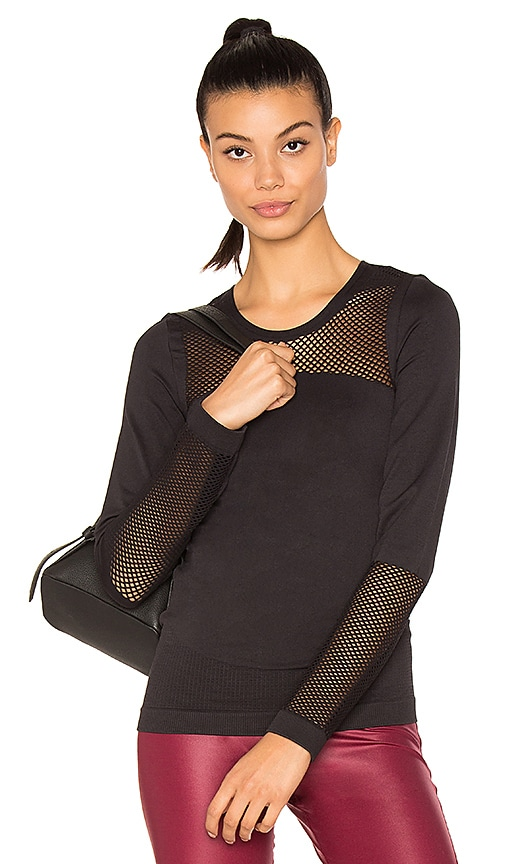 adidas by Stella McCartney The Seamless Mesh Top in Black