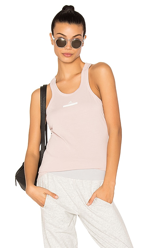 adidas by Stella McCartney The Racer Tank in Blush