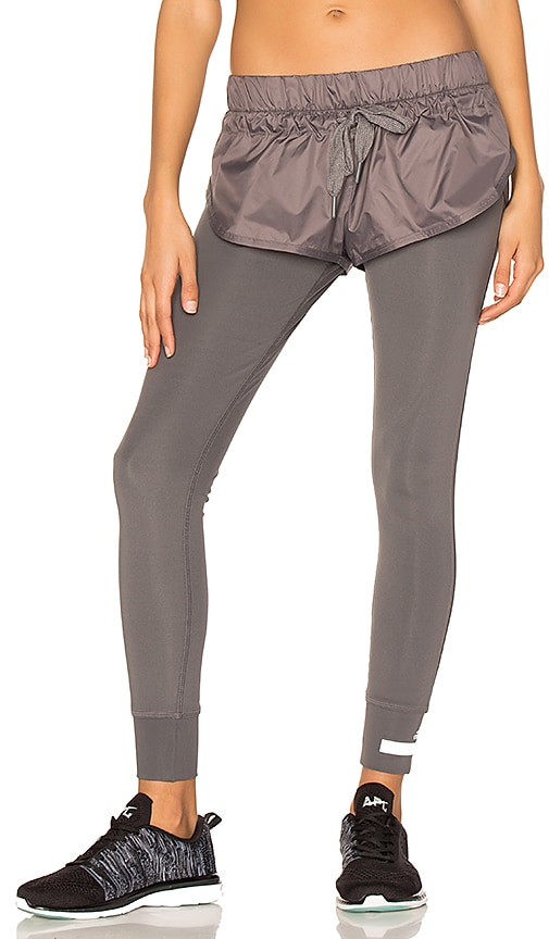 adidas by Stella McCartney The Short Tight in Charcoal