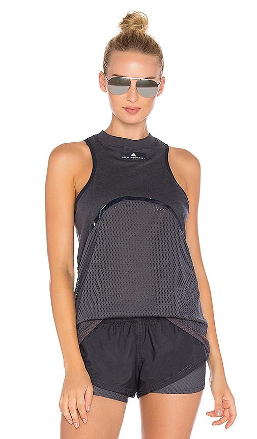 adidas by Stella McCartney Yoga Mesh Tank in Gray