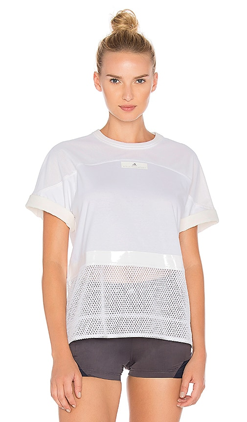 adidas by Stella McCartney Essential Mesh Tee in White