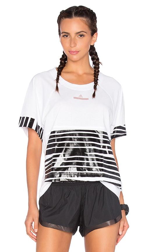 adidas by Stella McCartney Essentials Zebra Tee in White