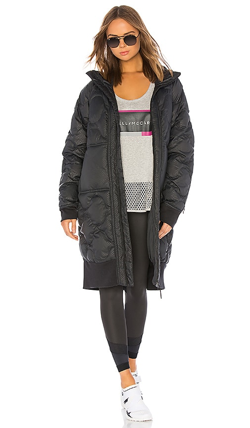 200f729c23066 adidas by Stella McCartney Athletics Long Padded Jacket in Black ...
