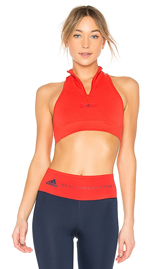 adidas by Stella McCartney Train Crop Top in Red