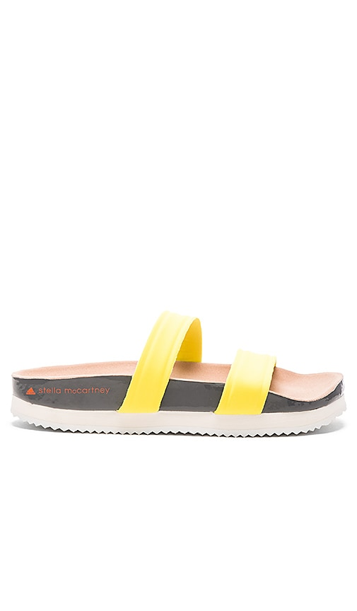 adidas by Stella McCartney Diadophis Sandal in Yellow Zest, Granite & Rose Tan
