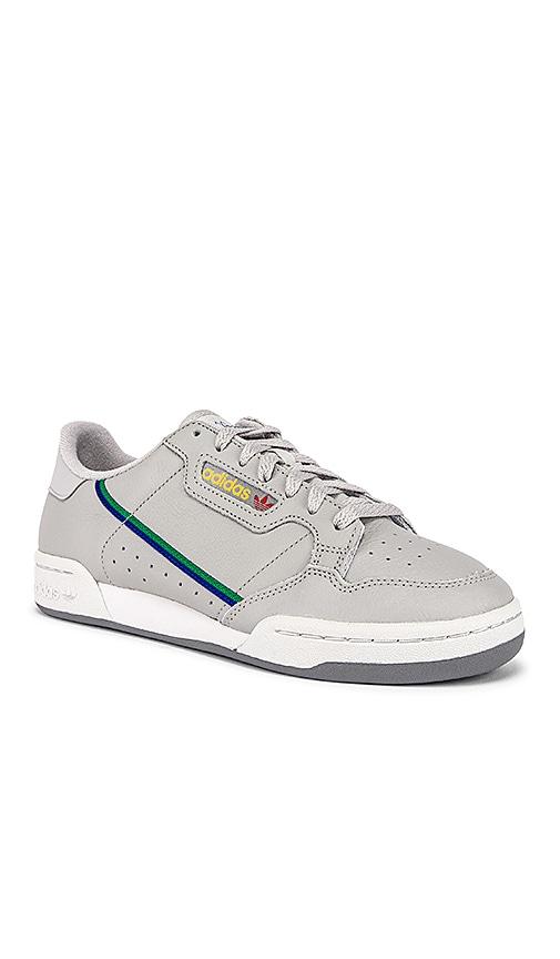 6517d25b6823 adidas Originals Continental 80 in Grey TWO & Grey ONE & Scarlet ...
