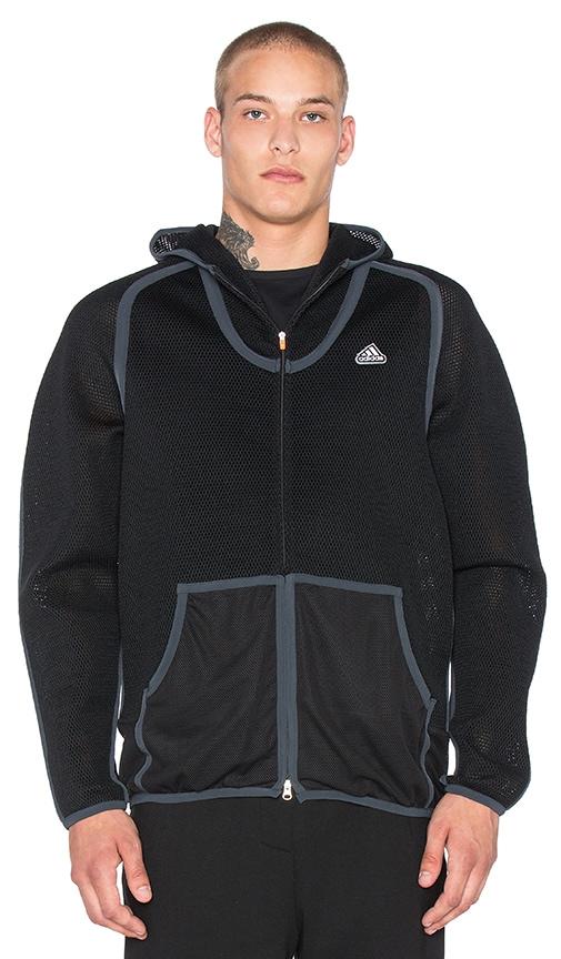 Adidas x KOLOR Spacer Hoodie in Black & Black & Night Grey