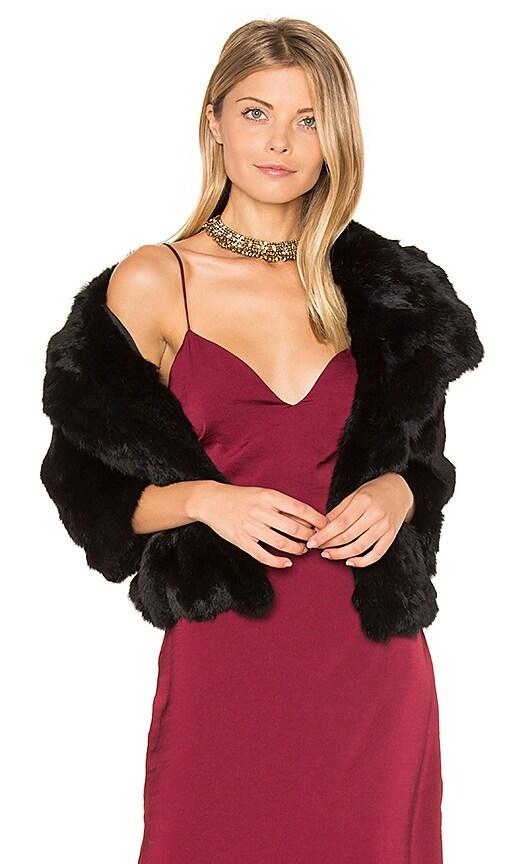 Adrienne Landau Rabbit Fur Jacket in Black