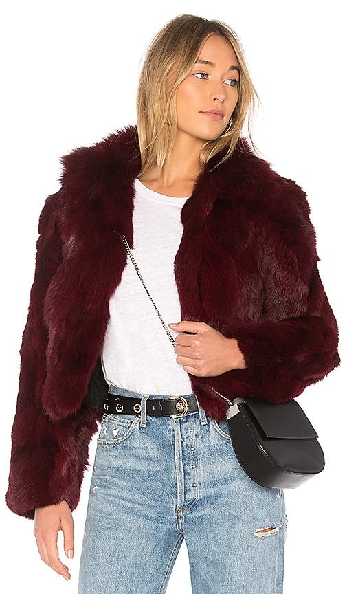 Rabbit Jacket With Fox Collar