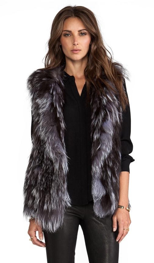 Knit Silver Fox Vest