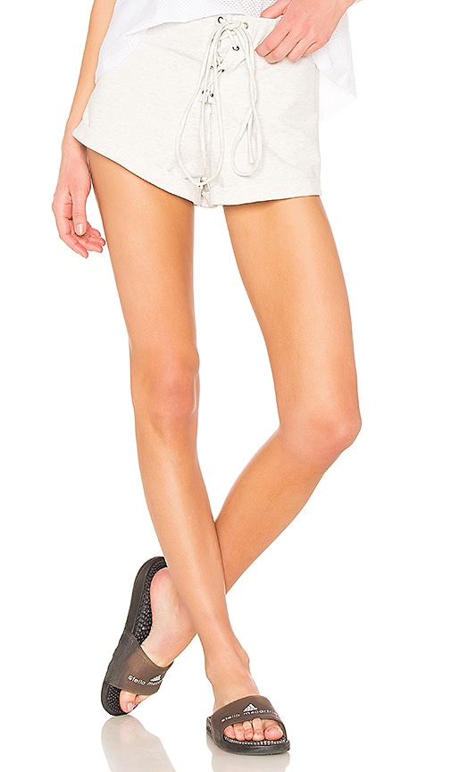 ALL FENIX Lace Up Short in Gray