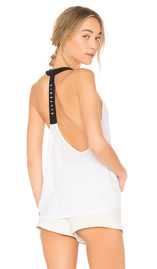 ALL FENIX Open Mesh Tank in White